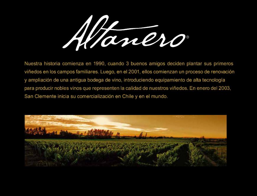 Vinhos Altanero – Exclusividade TAF em Santa Catarina